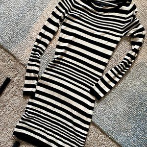 French Connection Striped Sweater Dress